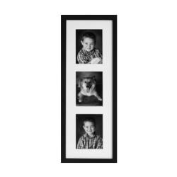 Lækker Sort fotoramme til 2 billeder 13x18 cm sort træ ramme til 2 foto OF-45