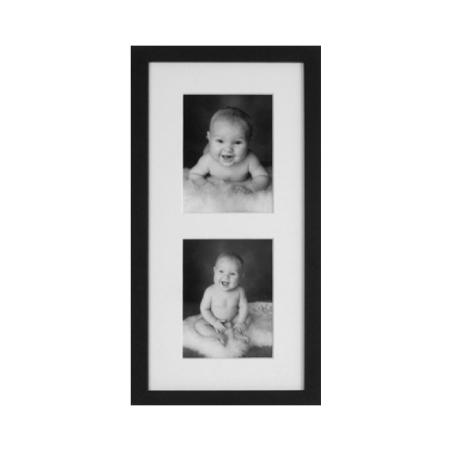 Folkekære Sort fotoramme til 2 billeder 13x18 cm sort træ ramme til 2 foto YP-31